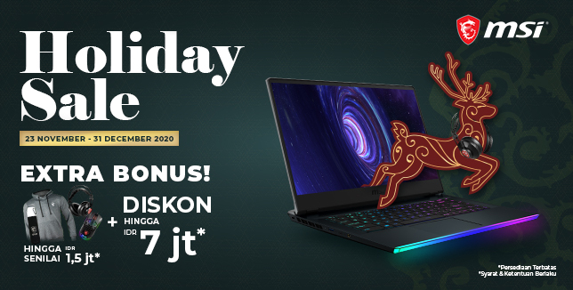 MSI Holiday Sale 2020