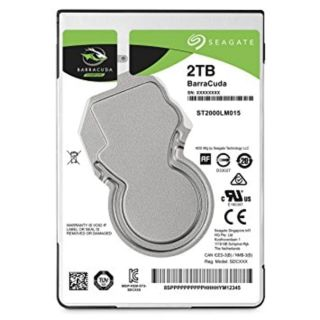 "Seagate Barracuda Laptop HDD |1TB | 7200rpm | 2.5"" Slim 