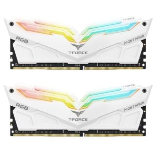Team T-Force Night Hawk 16GB (8GB KIT) DDR4 PC25600 3200Mhz White| TF2D416G3200HC16CDC01