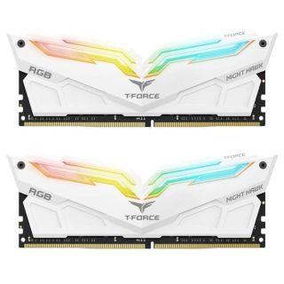 Team T-Force Night Hawk 32GB (16GB KIT) DDR4 PC25600 3200Mhz White | TF2D432G3200HC16CDC01