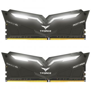 Team T-Force Night Hawk 16GB (8GB KIT) DDR4 PC25600 3200Mhz Black | TF1D416G3200HC16CDC01