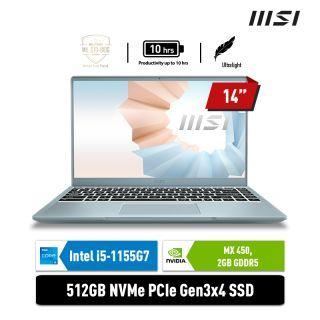 MSI Modern 14 B11SB - 627ID   i5-1155G7   MX450 2GB   BLUE STONE