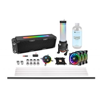 Thermaltake Pacific M360 Plus | DIY LCS | RL360mm DIY Liquid cooling system | Hard Tube | pure clear coolant