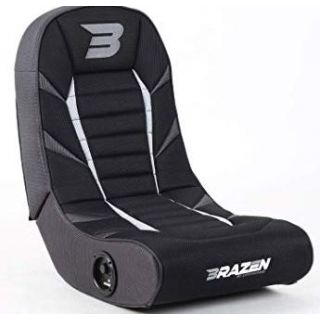 BRAZEN Python 2.0 Bluetooth Surround Sound | Console Chair | GREY