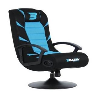 BRAZEN Pride 2.1 Bluetooth Surround Sound | Console Chair | BLUE