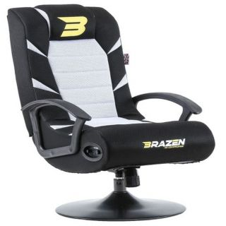 BRAZEN Pride 2.1 Bluetooth Surround Sound | Console Chair | WHITE
