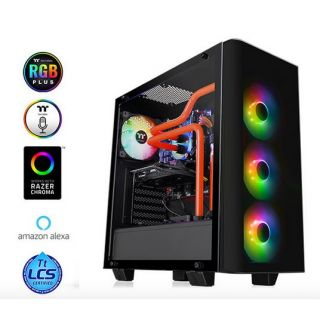 Thermaltake View 21 Tempered Glass RGB | BLACK
