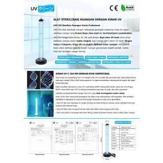 UV Kurin - UVC150 Sterilizer Ruangan - Sterilisasi UV-C Germicidal