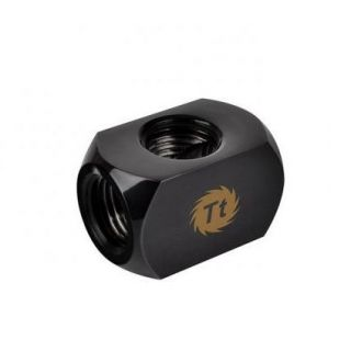 Thermaltake Pacific 4-Way G1/4 Connector Block BLACK | CL-W034-CU00BL-A
