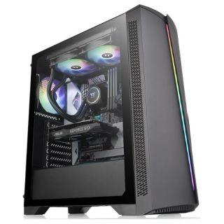 THERMALTAKE H350 Tempered Glass RGB |  BLACK | CA-1R9-00M1WN-00